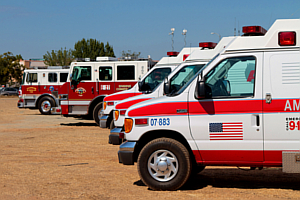 Ambulances and Fire Engines