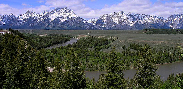 Snake River With Tetons